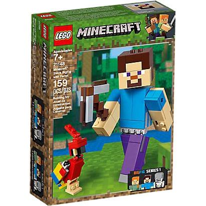 Minecraft BigFig Steve met papegaai