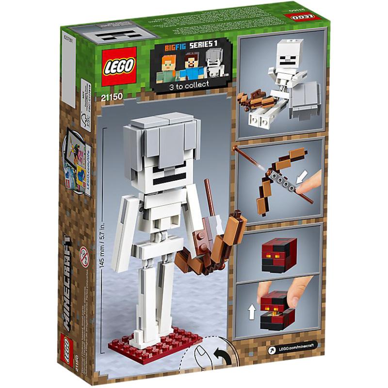 Minecraft BigFig skelet met magmakubus
