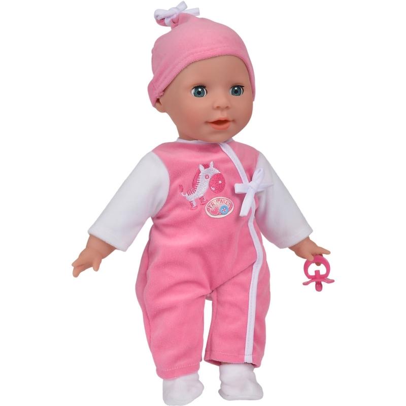 Laura pratende babypop roze Babbling, 38 cm