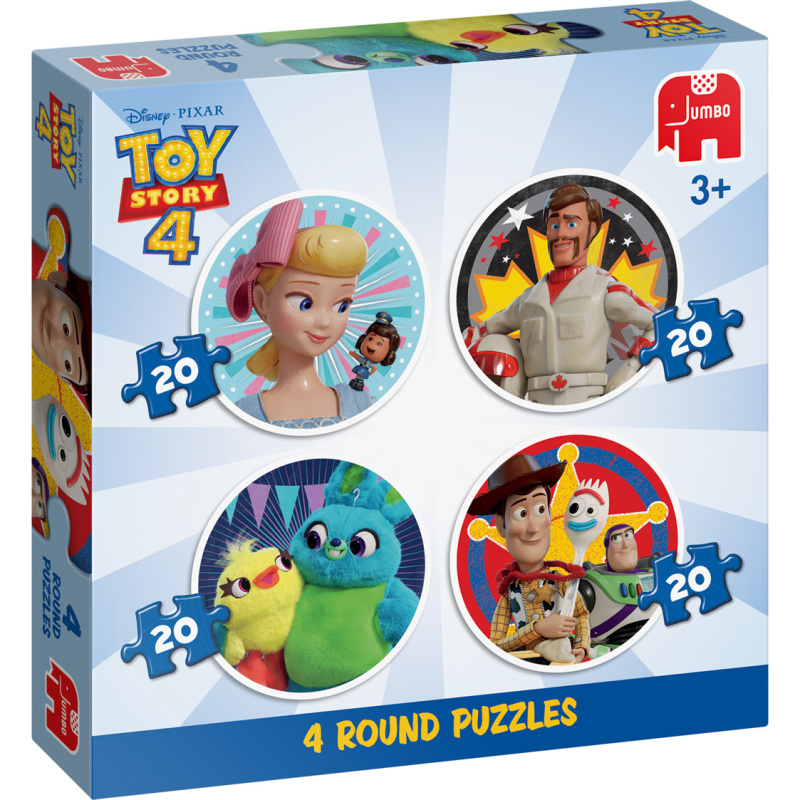 Disney Toy Story 4 4in1 Ronde Puzzels