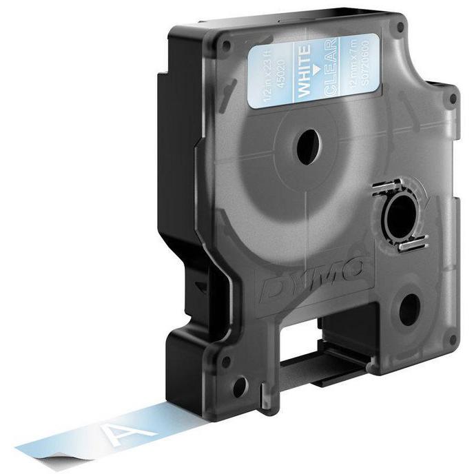 S0720600 labelprinter-tape Wit op transparant