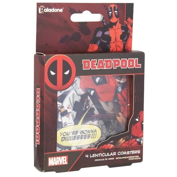Marvel: Deadpool Lenticular Coasters kopen