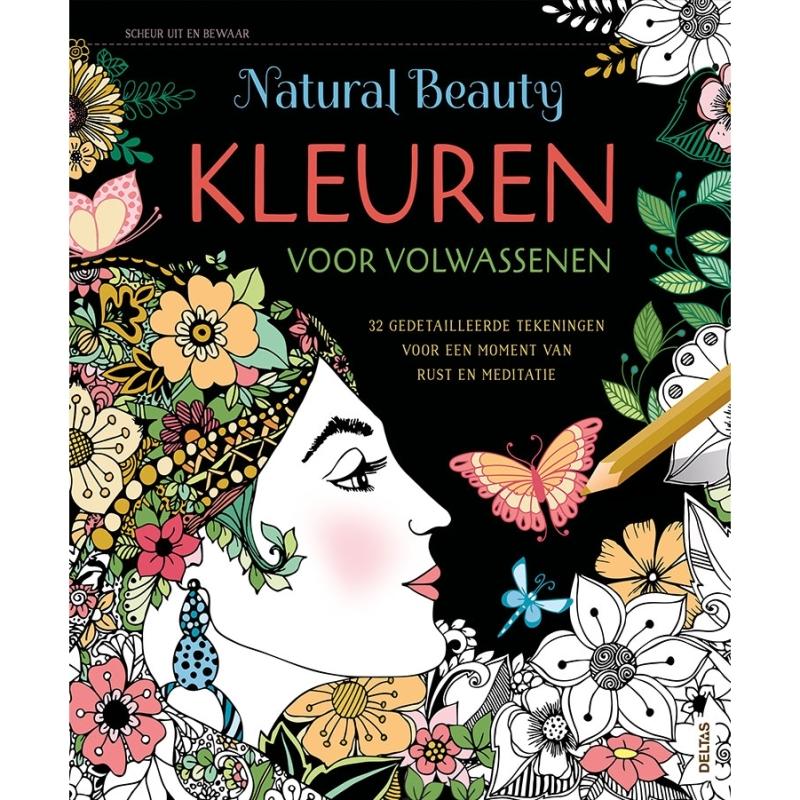 Kleurboek voor volwassenen - Natural beauty