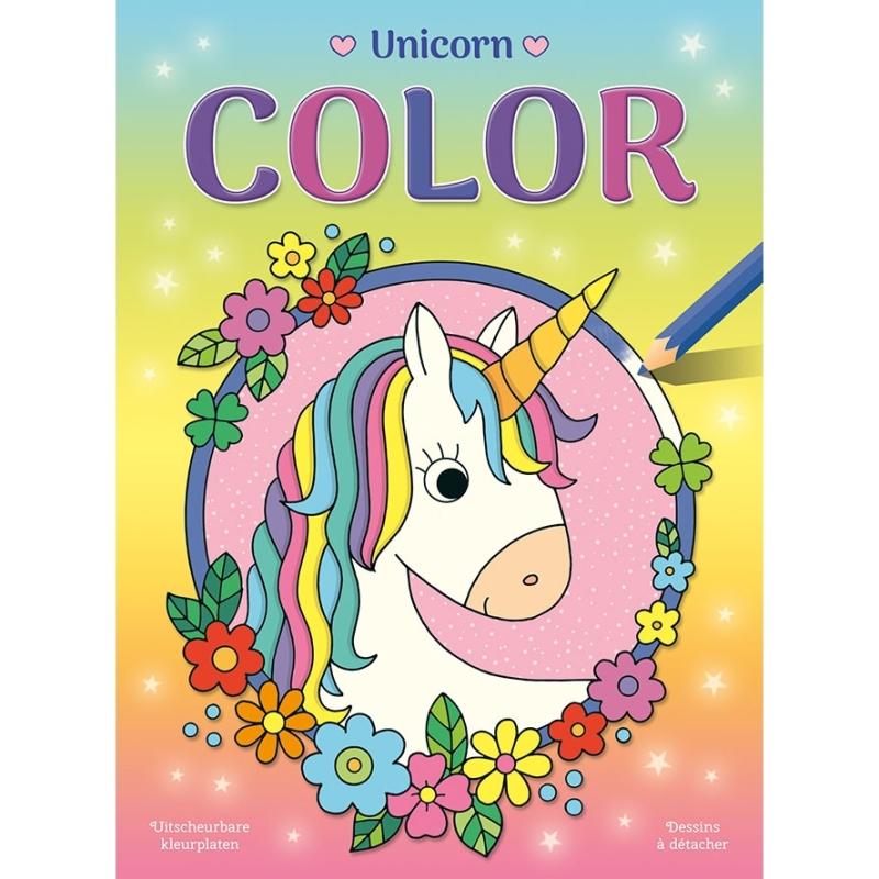 Kleurblok eenhoorn met uitscheurbare kleurplaten