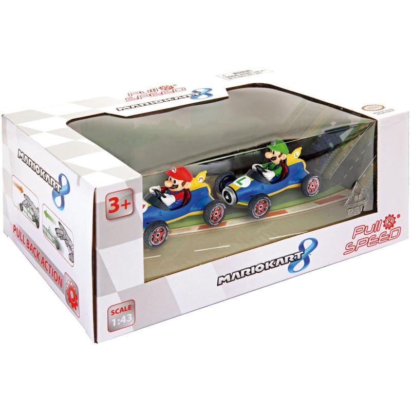 Auto Pull & Speed - Mario Kart Mach 8 - Twinpack - Speelgoedauto