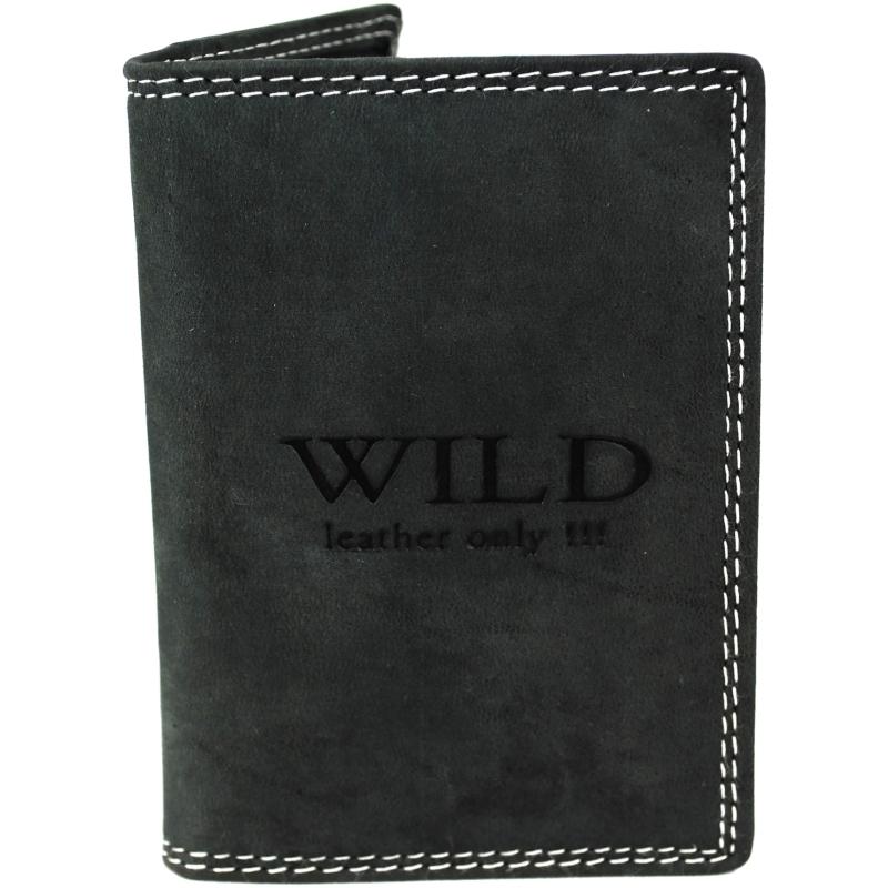 Creditcardhouder leder Wild zwart - 8x2x12 cm - Portemonnee