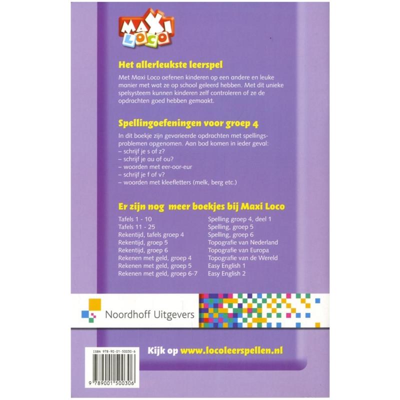 Spelling! groep 4 deel 2 Maxi - Educatief spel