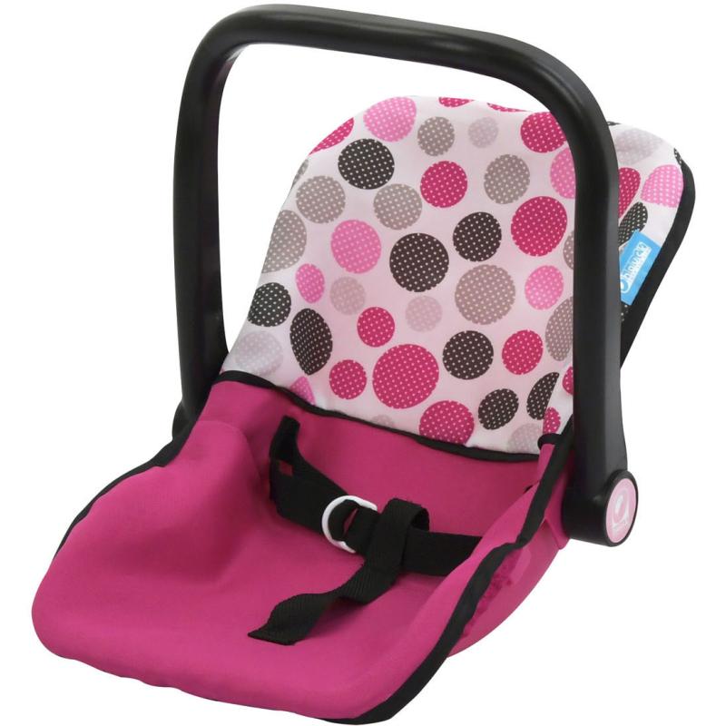 Poppen Maxi-Cosi Autostoel Roze met Stippen