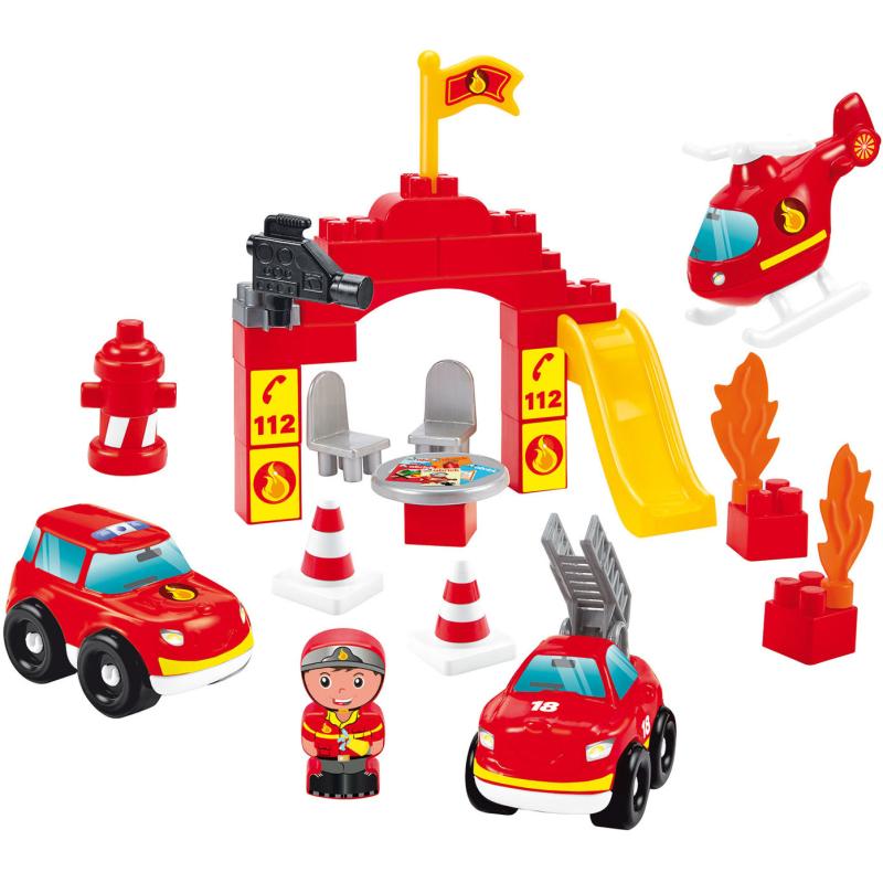 Bouwblokken Brandweer in Opbergbox, 45dlg.