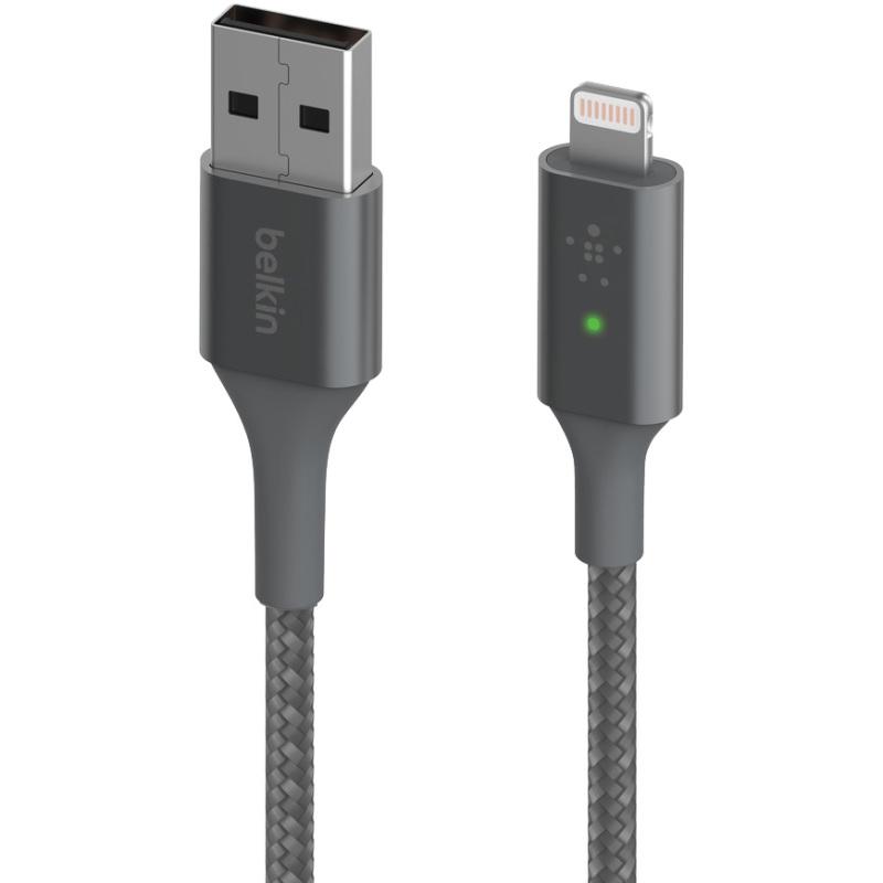 Boost Charge Lightning- USB-A kabel met slimme led, 1,2 meter