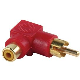 Stereo-Audio-Adapter 90° Haaks RCA Male RCA Female