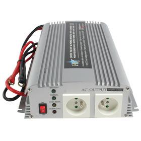 HQ HQ-INV1KC-24 Gelijkstroom-wisselstroomomzetter + batterij-oplader 24 V 1 kW uitgangen: 2