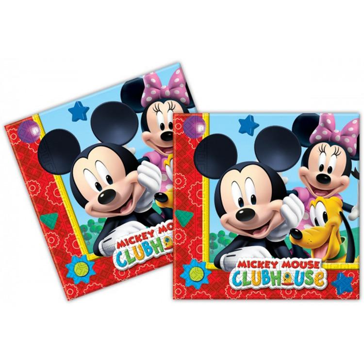 Mickey Mouse servetten, 20 stuks