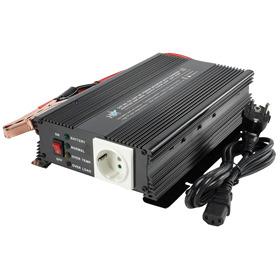 HQ HQ-INV600C-24 Gelijkstroom-wisselstroomomzetter + batterij-oplader 24 V 600 Watt uitgangen: 2