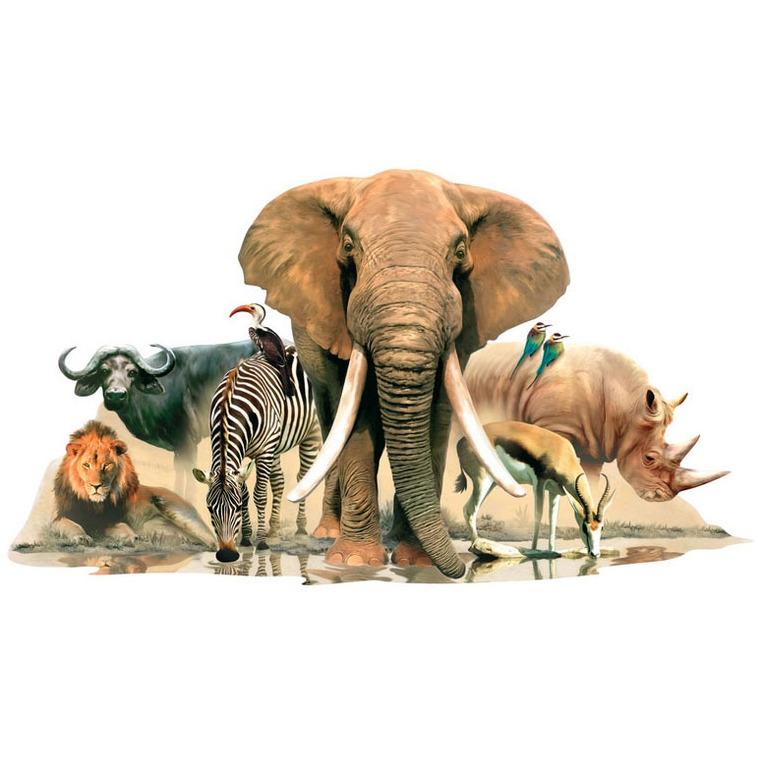 dieren van Afrika muursticker