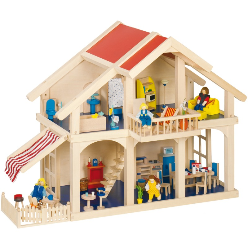 poppenhuis met veranda