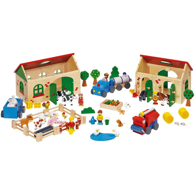 5b61237d32bfee Prachtige houten boerderij inclusief accessoires. de 71 delige boerderij  bestaat onder andere uit twee .