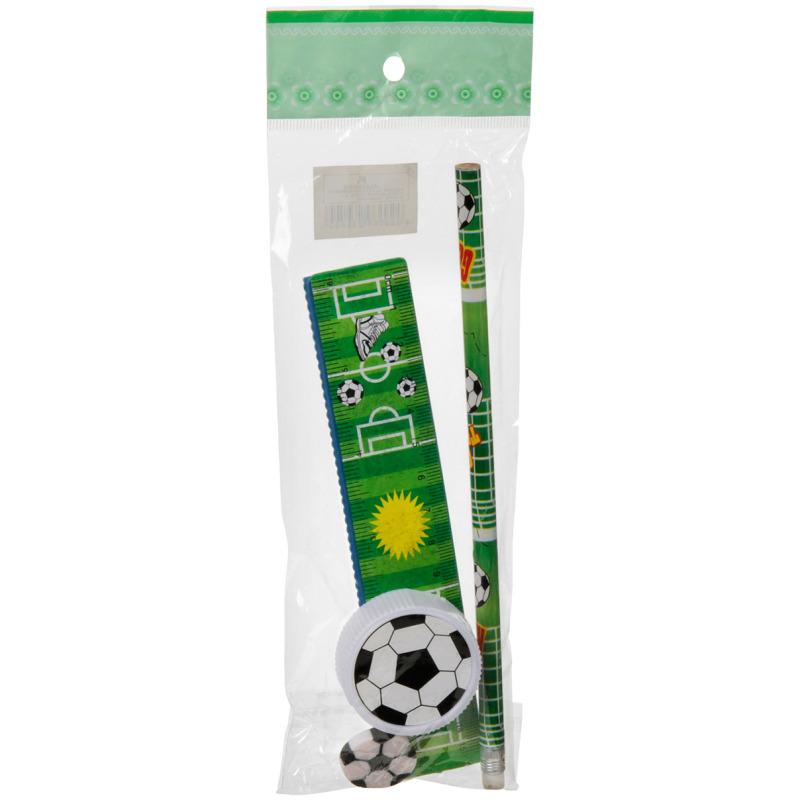 voetbal schrijfset, 4-delig