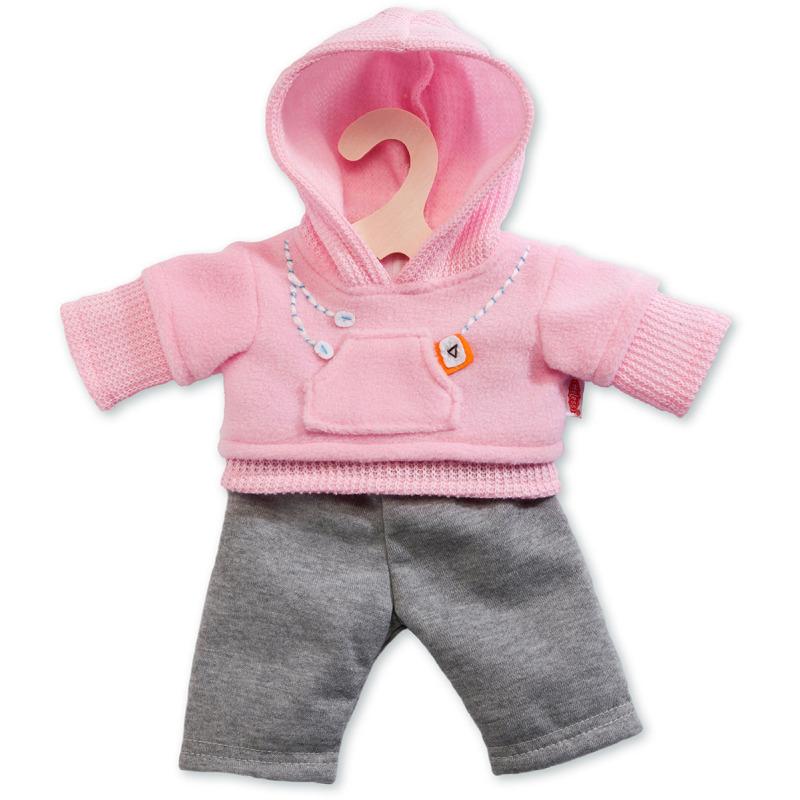 poppen jogging outfit - roze, 35 - 45 cm