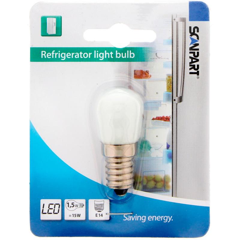 SCANPART LED koelkastlampje - E14 fitting - 1,5 (=15) Watt kopen