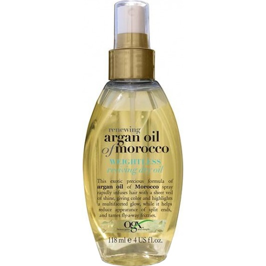 Argan Oil of Morocco weightless reviving dry oil, 118 ml